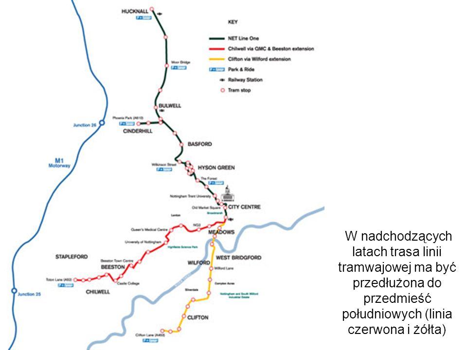 W nadchodzących latach trasa linii tramwajowej ma być przedłużona do przedmieść południowych (linia czerwona i żółta)