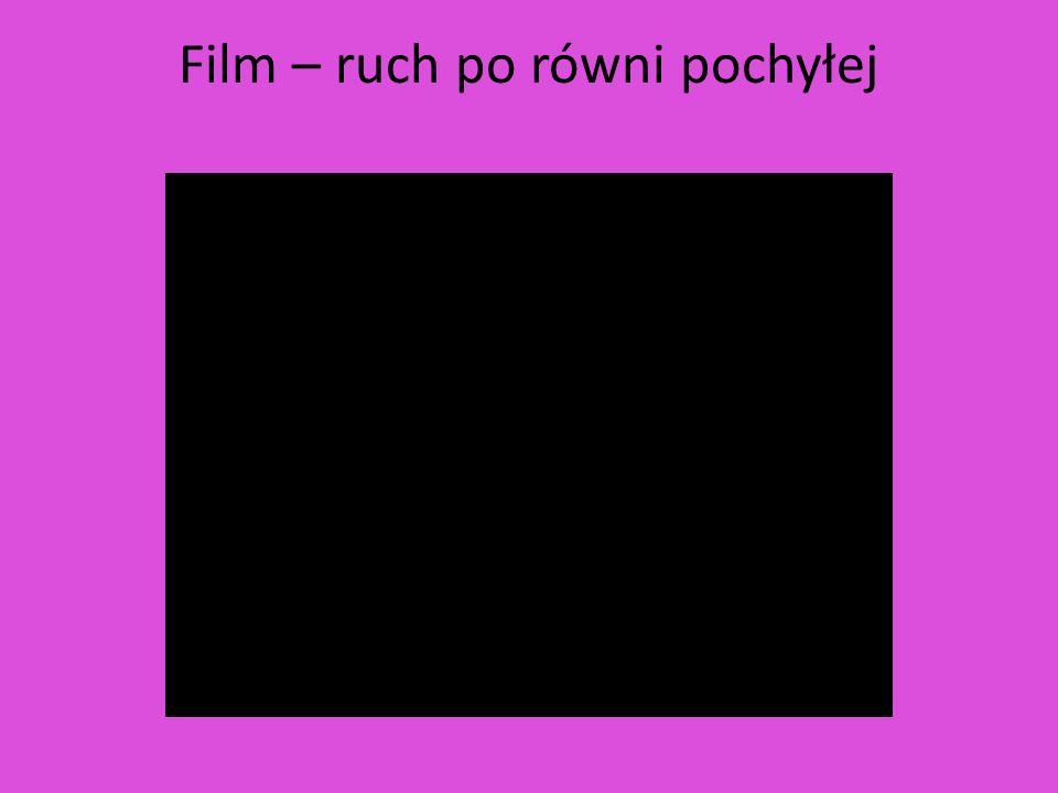 Film – ruch po równi pochyłej