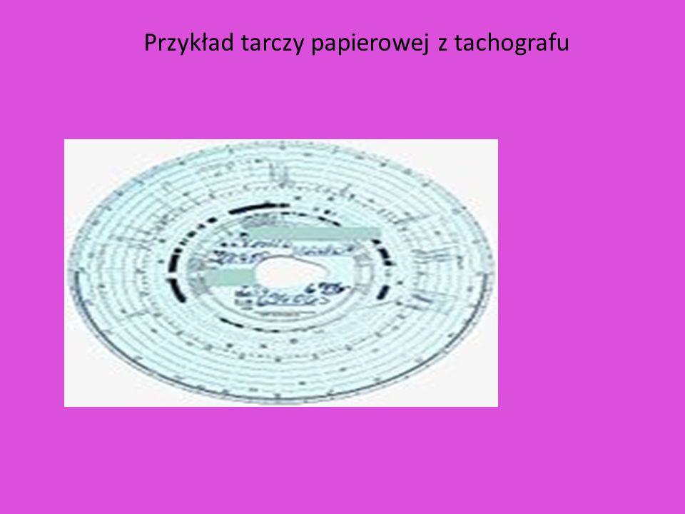 Przykład tarczy papierowej z tachografu