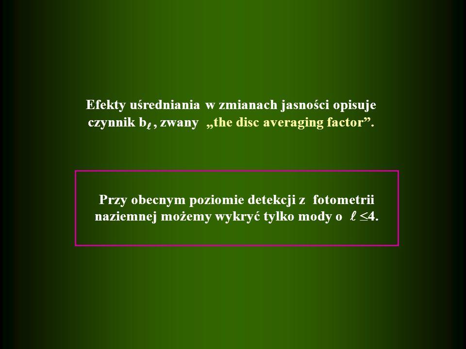 Efekty uśredniania w zmianach jasności opisuje czynnik b, zwany the disc averaging factor.