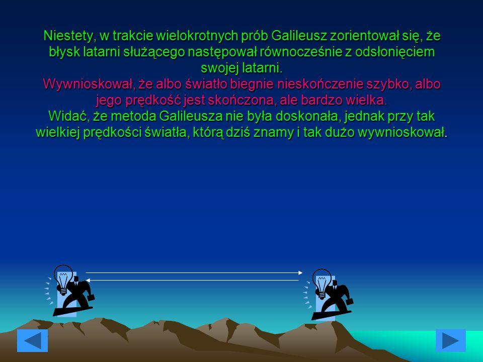 Galileusz poświęcił także wiele uwagi badaniom ruchu.