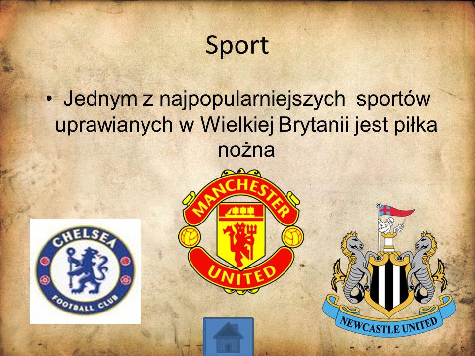 Sport Jednym z najpopularniejszych sportów uprawianych w Wielkiej Brytanii jest piłka nożna