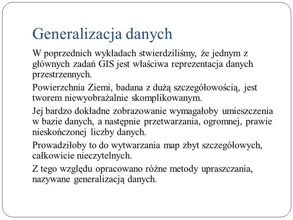 Generalizacja kształtu wzmocnienie przez zmianę wielkości i kształtów symboli