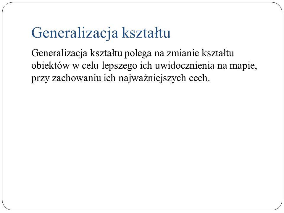 Generalizacja kształtu uproszczenie lub wybór punktów np.