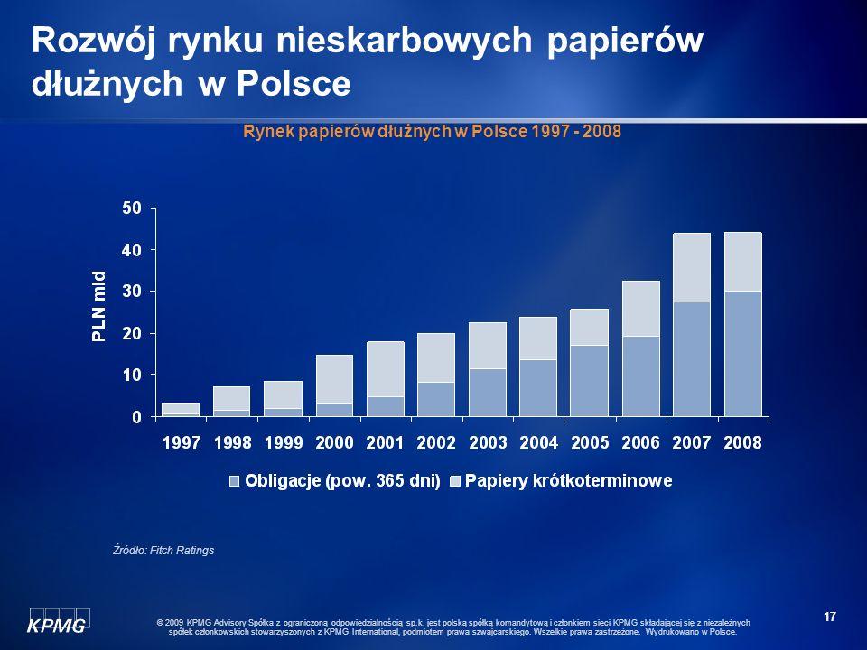 16 © 2009 KPMG Advisory Spółka z ograniczoną odpowiedzialnością sp.k. jest polską spółką komandytową i członkiem sieci KPMG składającej się z niezależ