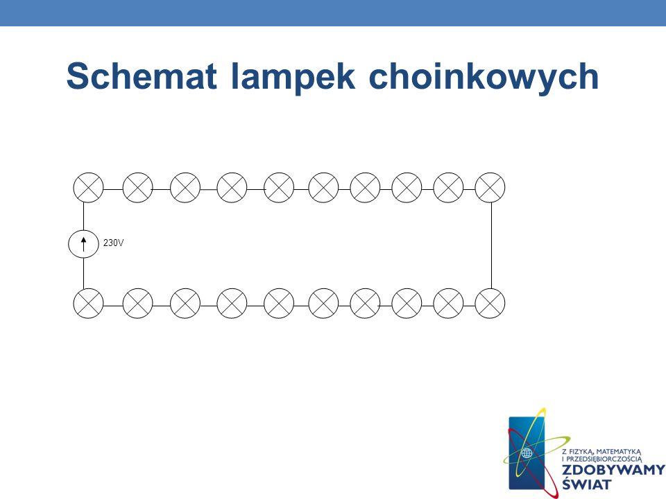 Schemat lampek choinkowych 230V