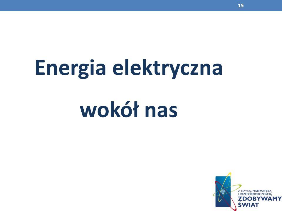 15 Energia elektryczna wokół nas