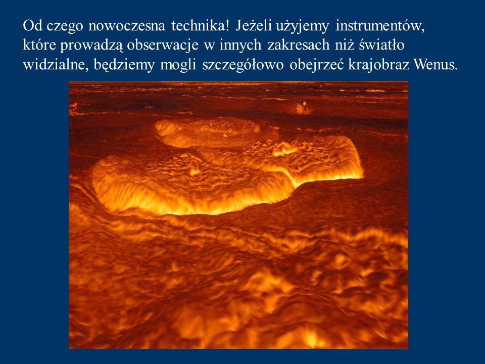Druga planeta to jasna Wenus. Otoczona gęstą, wypełnioną chmurami, atmosferą zazdrośnie strzeże szczegółów na swojej powierzchni.