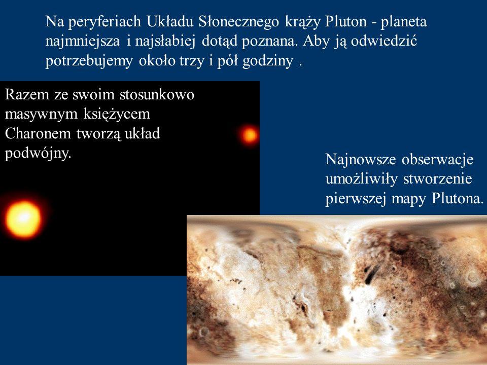 Tutaj też można dostrzec objawy bardzo gwałtownych zjawisk atmosferycznych Neptun to ostatnia z czterech planet - olbrzymów. Otoczona jest gęstą, błęk