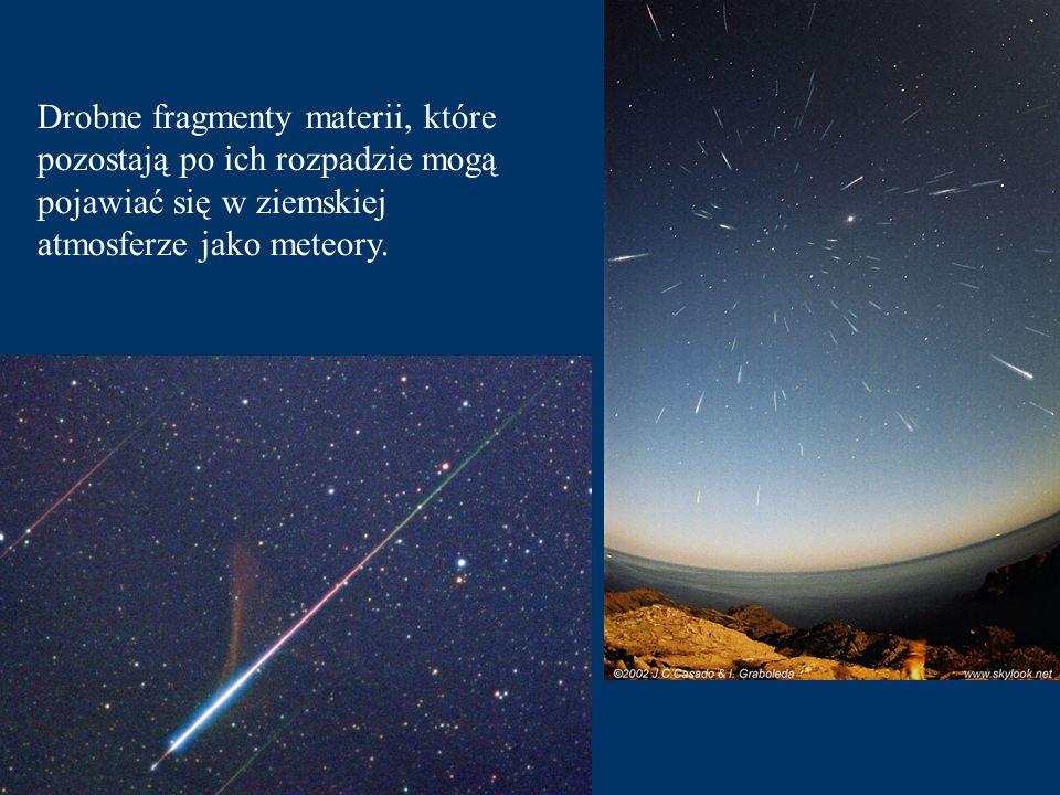 Oprócz planet i planetoid w Układzie Słonecznym możemy spotkać komety, które w pobliżu Słońca rozwijają wspaniałe warkocze. Kometa Hale - Boppa