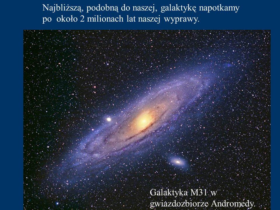Wszystkie gwiazdy z okolic Słońca tworzą Galaktykę - naszą wyspę we Wszechświecie - podobną do tej na fotografii. Aby ją przelecieć z jednego końca na