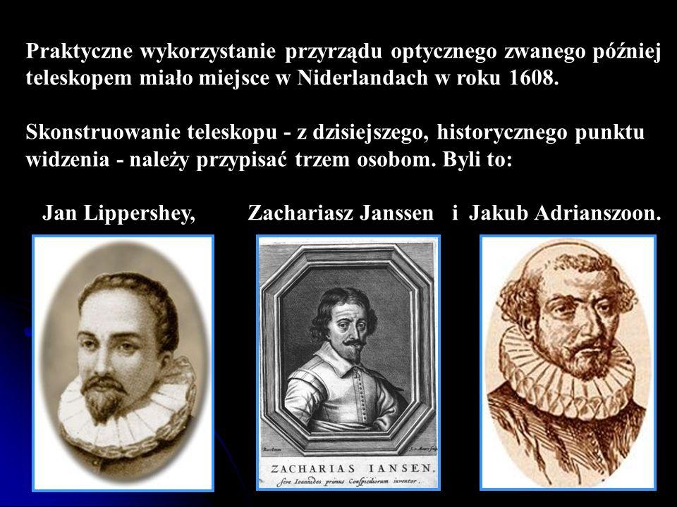 Praktyczne wykorzystanie przyrządu optycznego zwanego później teleskopem miało miejsce w Niderlandach w roku 1608. Skonstruowanie teleskopu - z dzisie