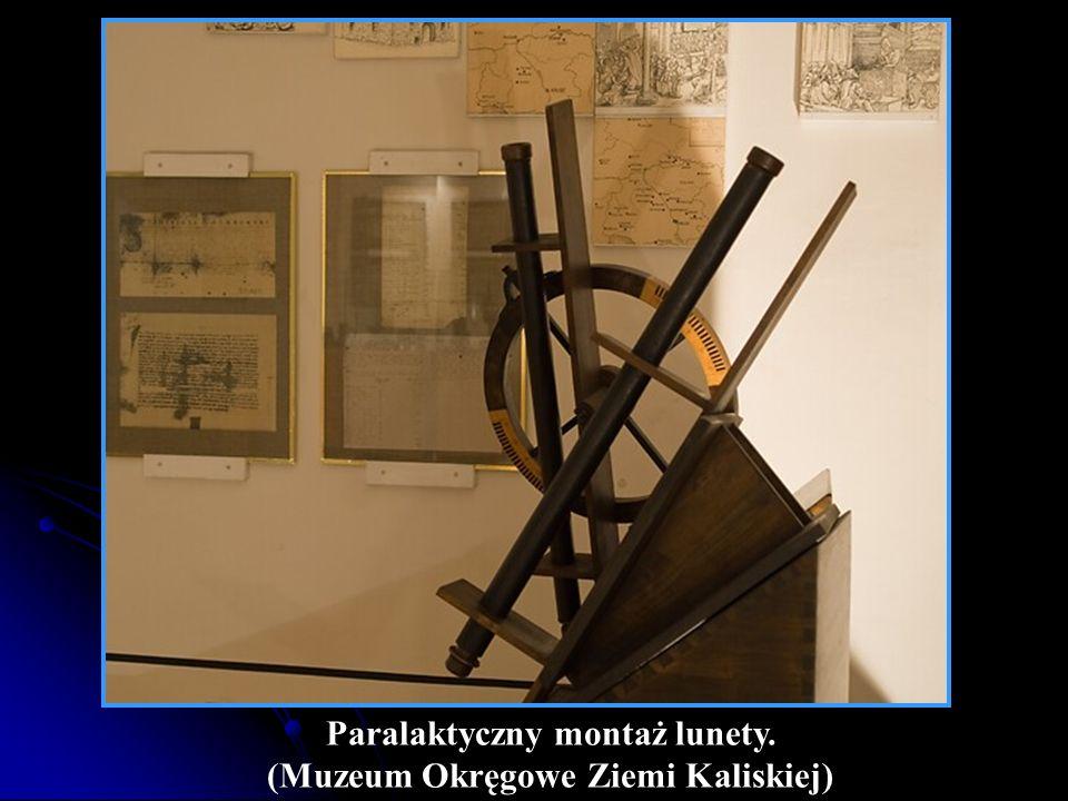 Paralaktyczny montaż lunety. (Muzeum Okręgowe Ziemi Kaliskiej)