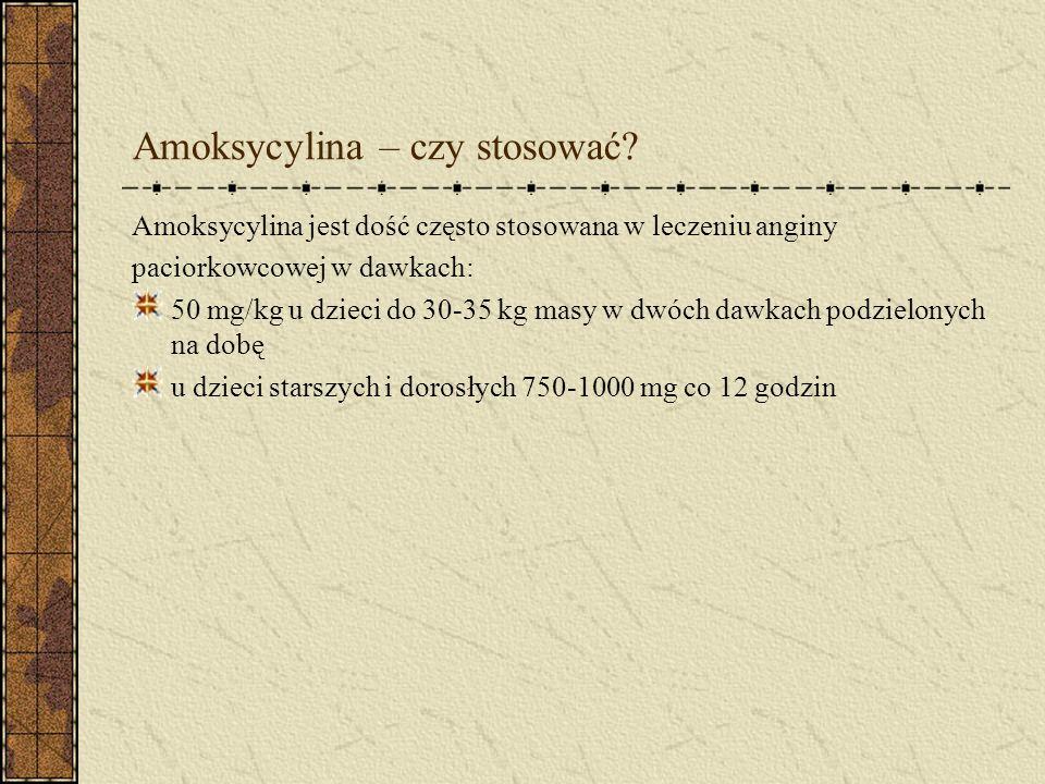 Amoksycylina – czy stosować.