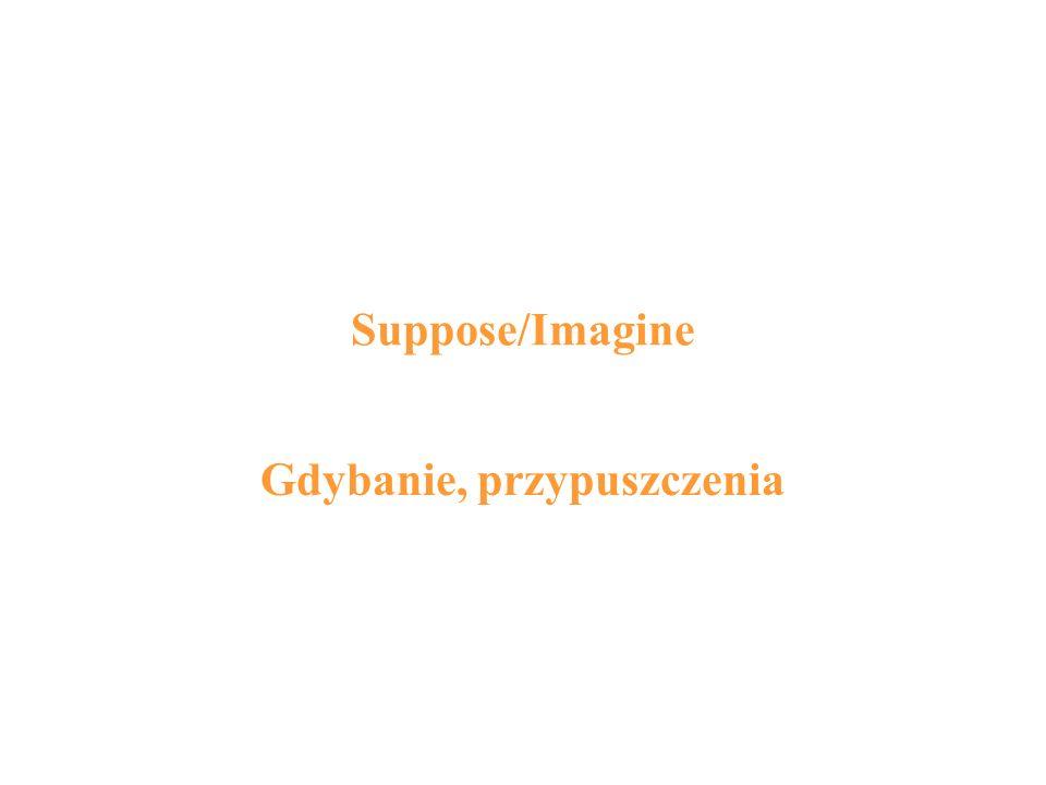 Suppose/Imagine Gdybanie, przypuszczenia