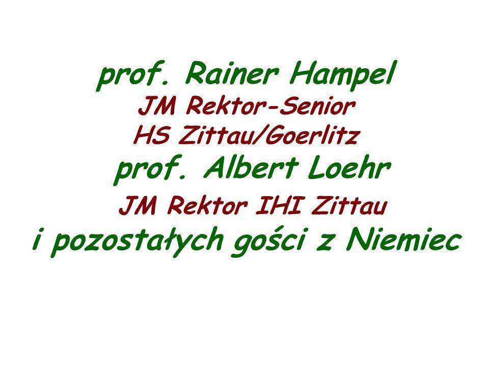 prof. Rainer Hampel JM Rektor-Senior HS Zittau/Goerlitz prof.