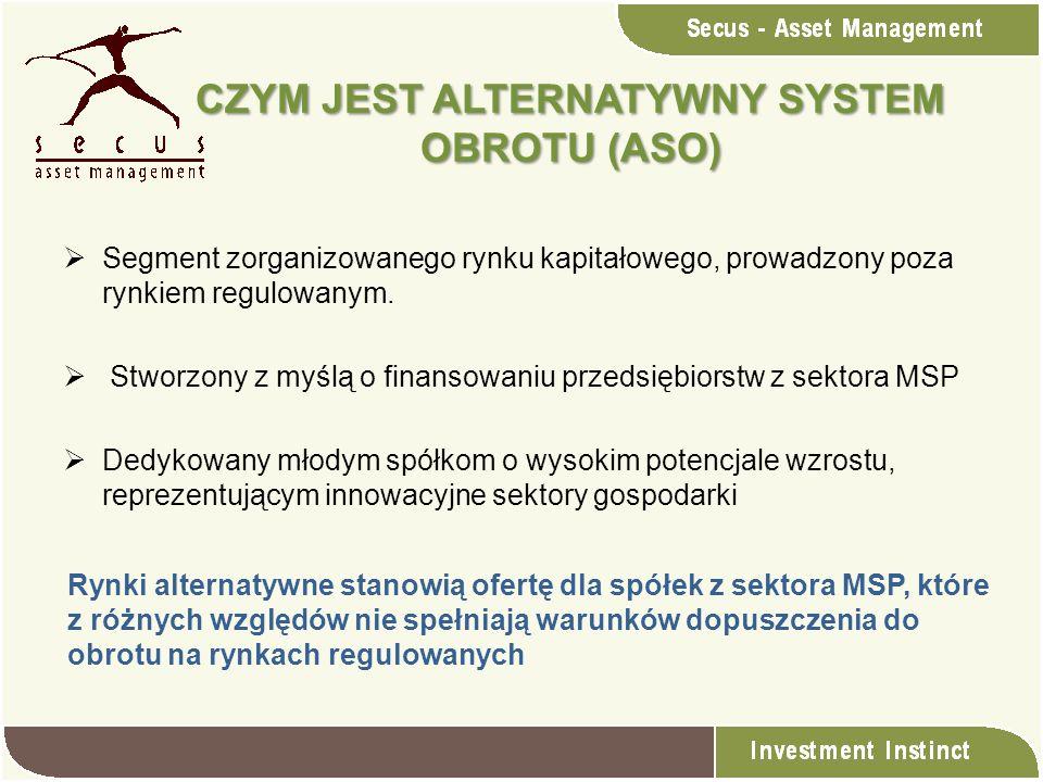 Segment zorganizowanego rynku kapitałowego, prowadzony poza rynkiem regulowanym. Stworzony z myślą o finansowaniu przedsiębiorstw z sektora MSP Dedyko