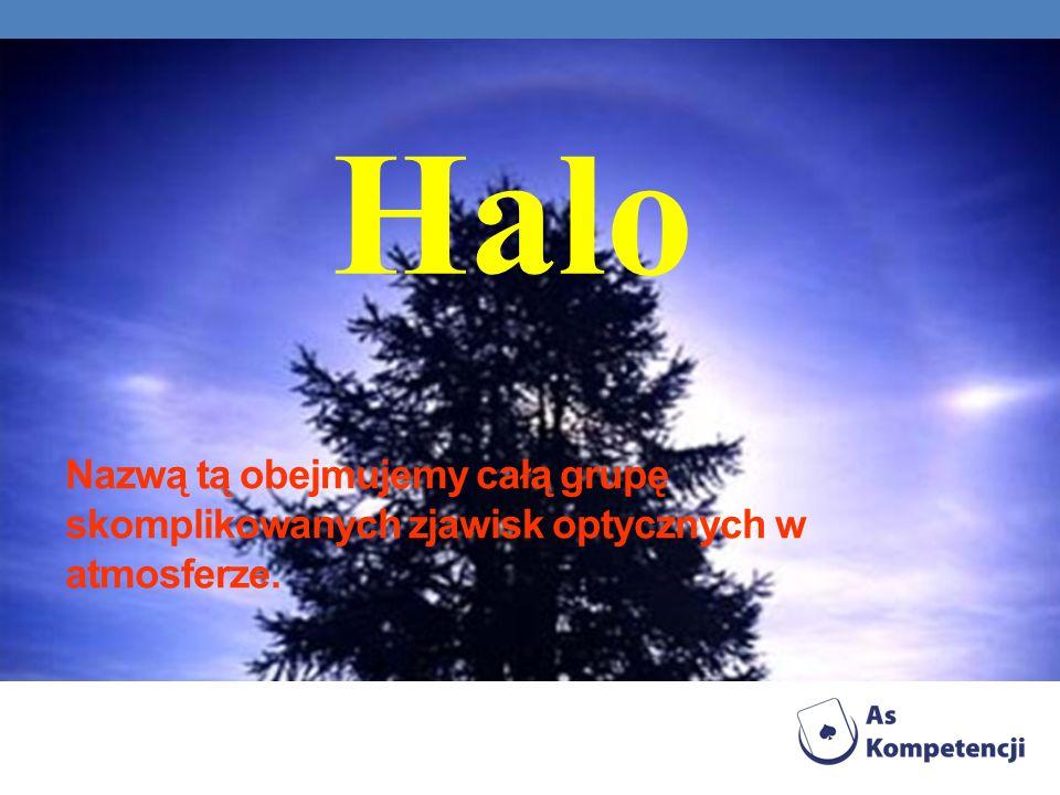 Nazwą tą obejmujemy całą grupę skomplikowanych zjawisk optycznych w atmosferze. Halo