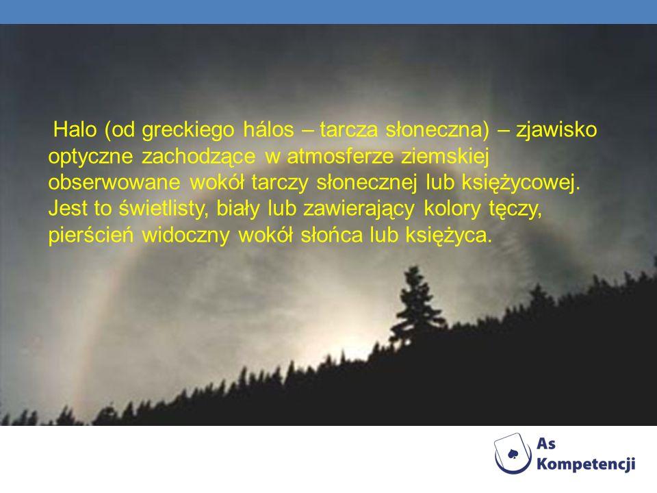 Halo (od greckiego hálos – tarcza słoneczna) – zjawisko optyczne zachodzące w atmosferze ziemskiej obserwowane wokół tarczy słonecznej lub księżycowej