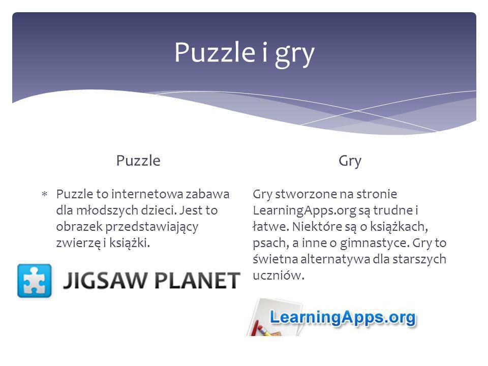 Puzzle i gry Puzzle Puzzle to internetowa zabawa dla młodszych dzieci.