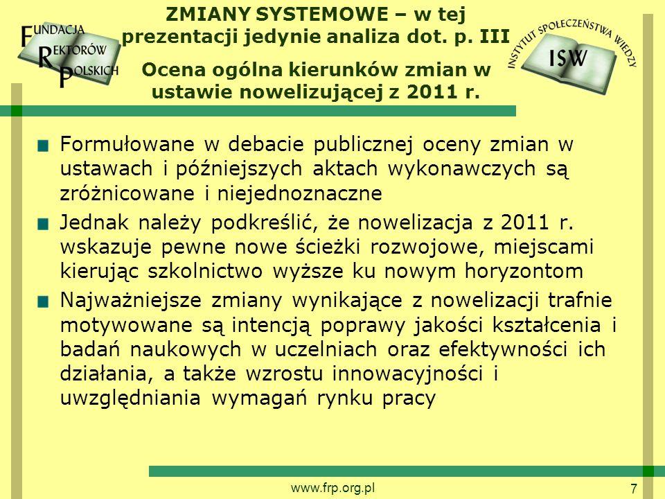 7 ZMIANY SYSTEMOWE – w tej prezentacji jedynie analiza dot.
