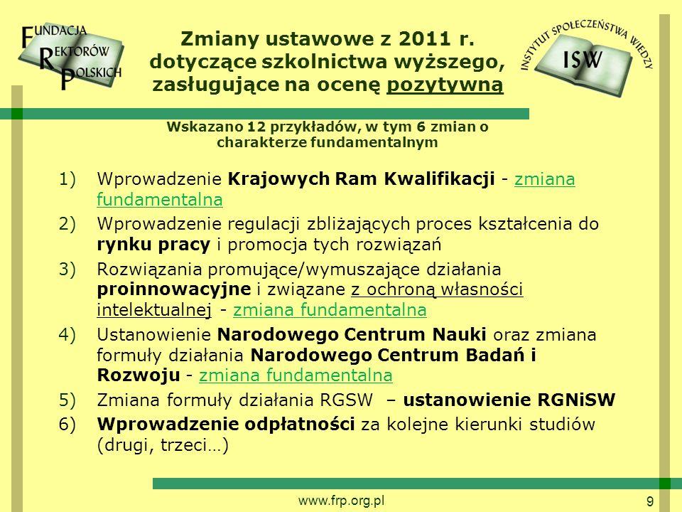 9 Zmiany ustawowe z 2011 r.