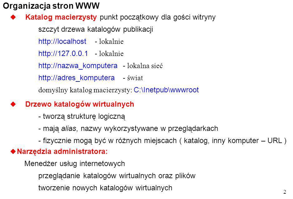13 S.Wolek Wst. do Inf. iteracje for for zm_ster=w 1 to w 2 [step w 3 ]...
