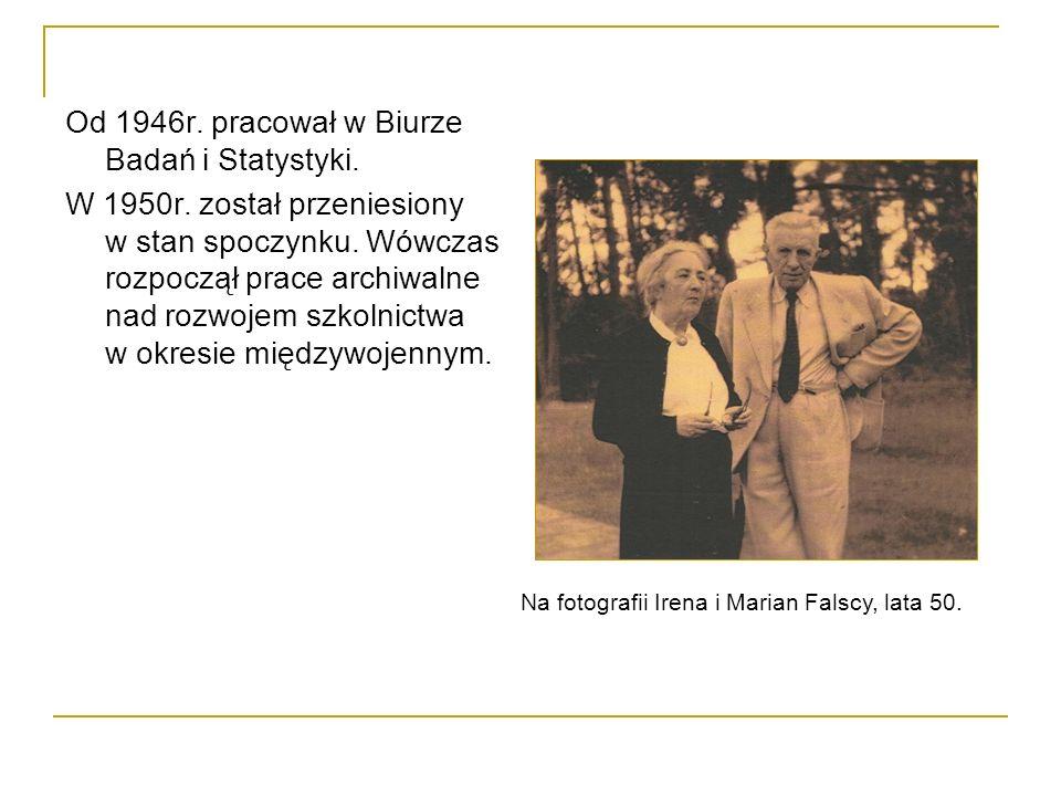 Od 1946r.pracował w Biurze Badań i Statystyki. W 1950r.