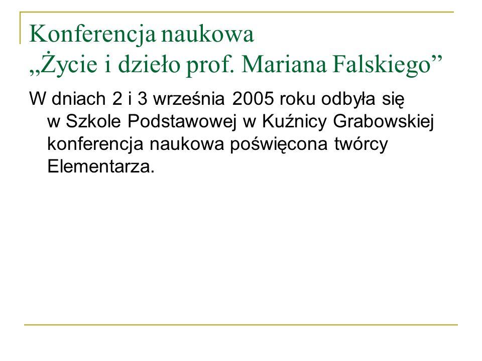 Konferencja naukowa Życie i dzieło prof.