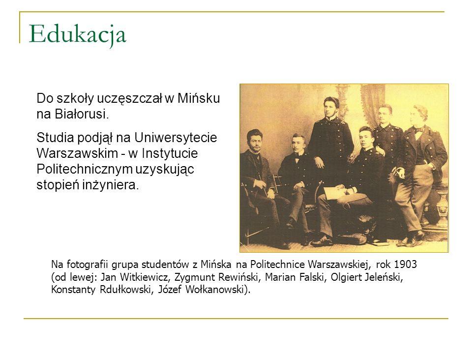 Edukacja Do szkoły uczęszczał w Mińsku na Białorusi.