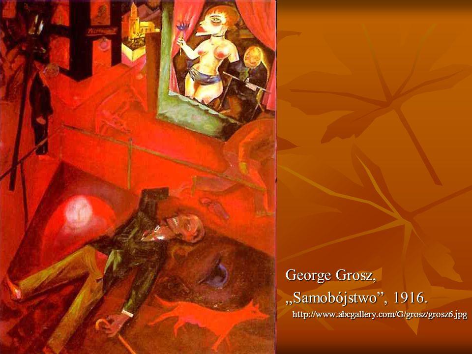 George Grosz, Samobójstwo, 1916. http://www.abcgallery.com/G/grosz/grosz6.jpg