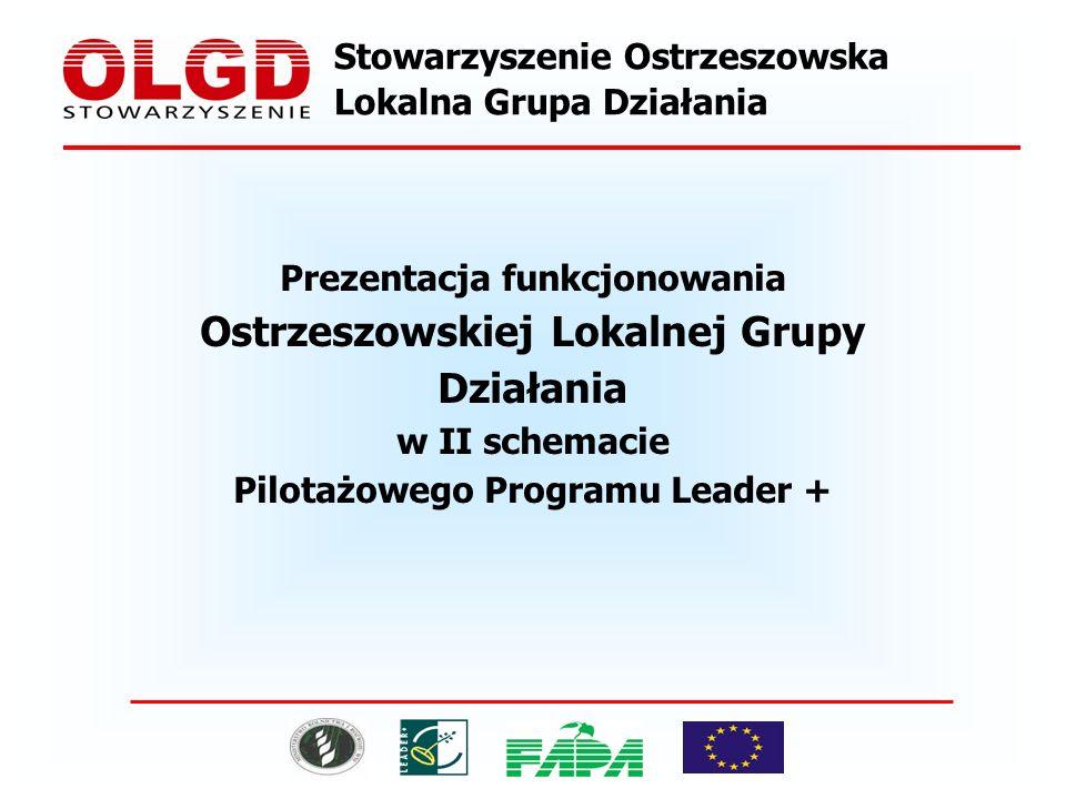 Stowarzyszenie Ostrzeszowska Lokalna Grupa Działania Prezentacja funkcjonowania Ostrzeszowskiej Lokalnej Grupy Działania w II schemacie Pilotażowego Programu Leader +