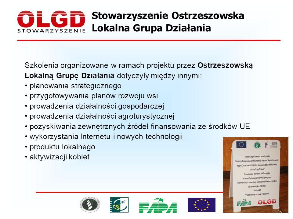 Organizowano także inne imprezy na terenie Ostrzeszowskiej Lokalnej Grupy Działania