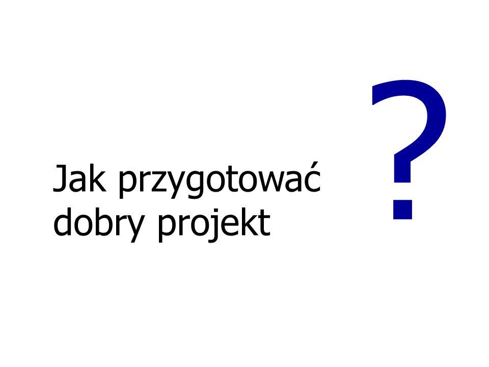 Analiza celów PROBLEM CEL Zarządzanie cyklem projektu Identyfikacja środowisk, które mogą się zaangażować w realizację projektu Przeprowadzane są kons