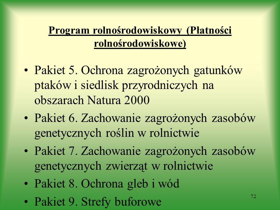 Program rolnośrodowiskowy (Płatności rolnośrodowiskowe) Pakiet 5. Ochrona zagrożonych gatunków ptaków i siedlisk przyrodniczych na obszarach Natura 20
