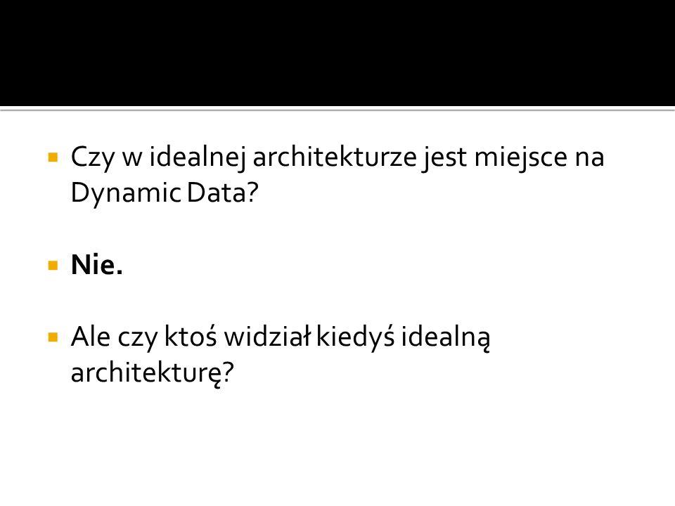 Czy w idealnej architekturze jest miejsce na Dynamic Data.