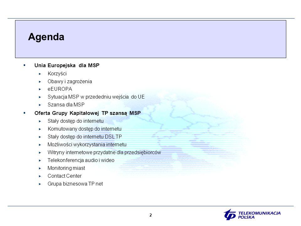 13 Porównanie charakterystycznych cech przedsiębiorstw wykorzystujących tradycyjne oraz nowoczesne formy komunikacji SZANSA DLA MSP