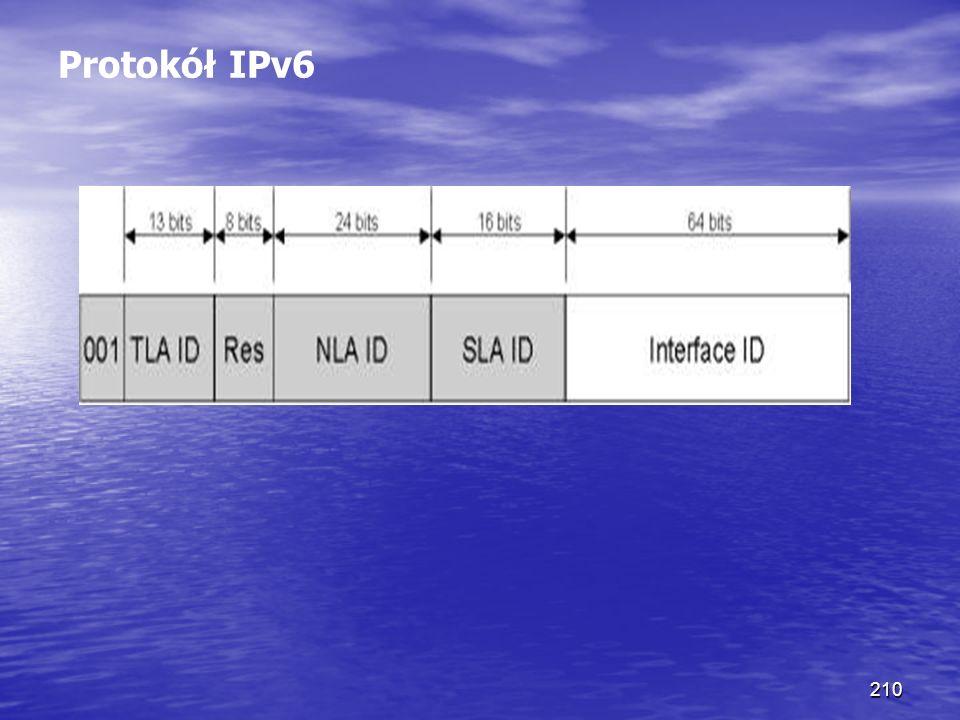 210 Protokół IPv6