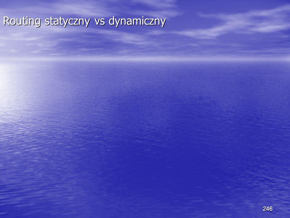 246 Routing statyczny vs dynamiczny