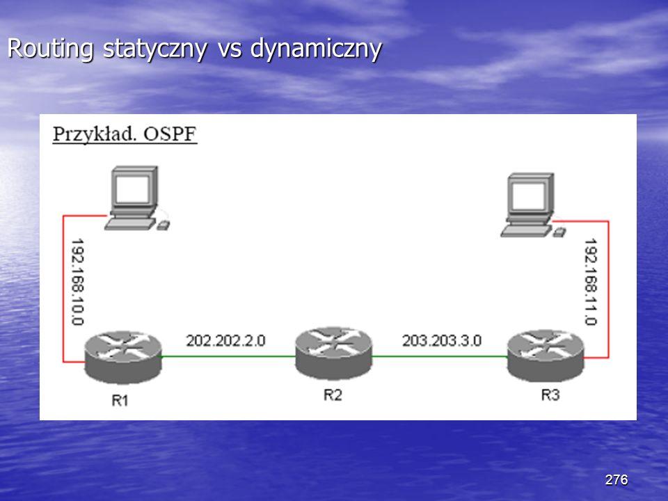 276 Routing statyczny vs dynamiczny