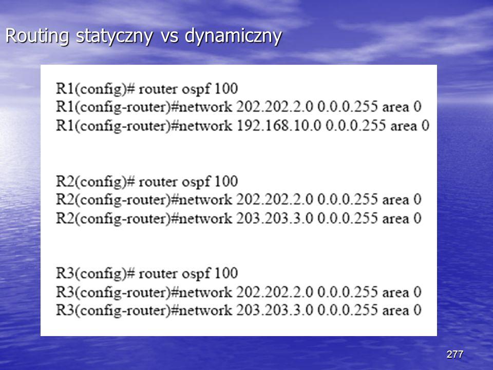277 Routing statyczny vs dynamiczny