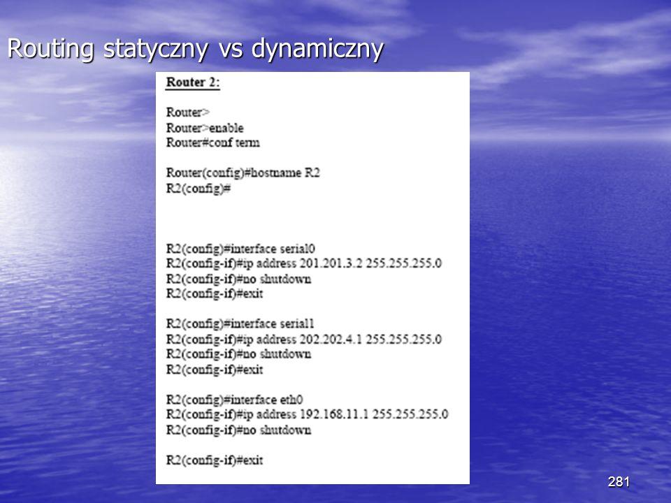 281 Routing statyczny vs dynamiczny