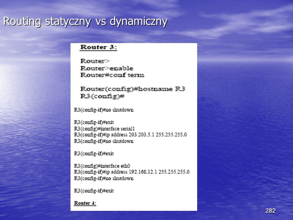 282 Routing statyczny vs dynamiczny