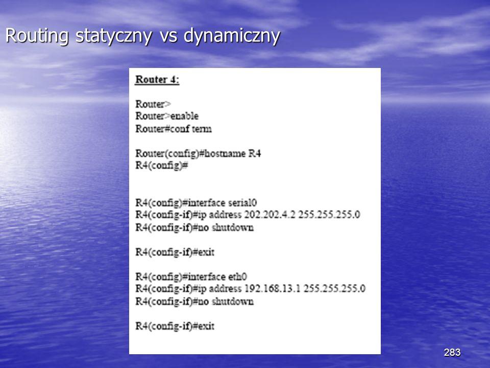 283 Routing statyczny vs dynamiczny