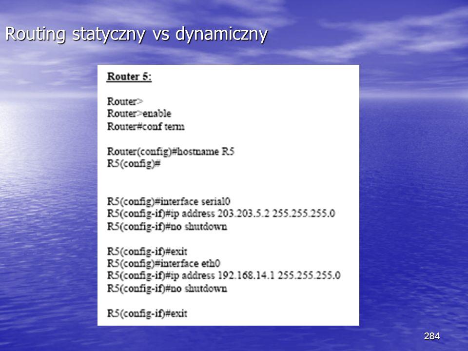 284 Routing statyczny vs dynamiczny