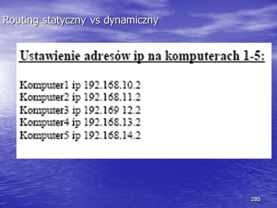 285 Routing statyczny vs dynamiczny