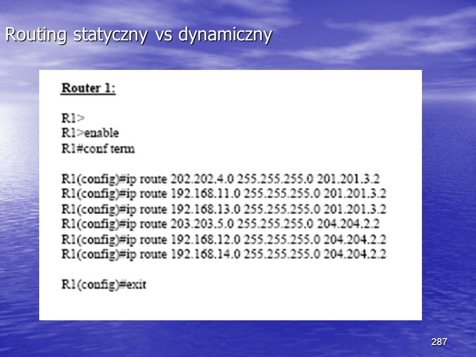 287 Routing statyczny vs dynamiczny