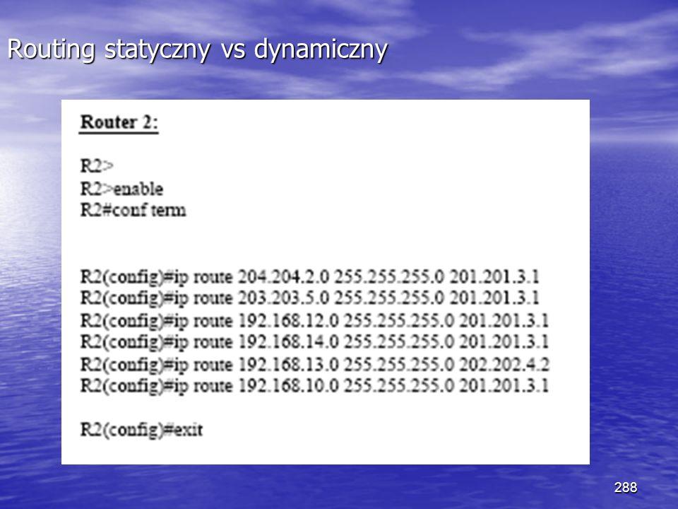288 Routing statyczny vs dynamiczny