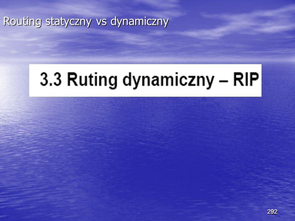 292 Routing statyczny vs dynamiczny