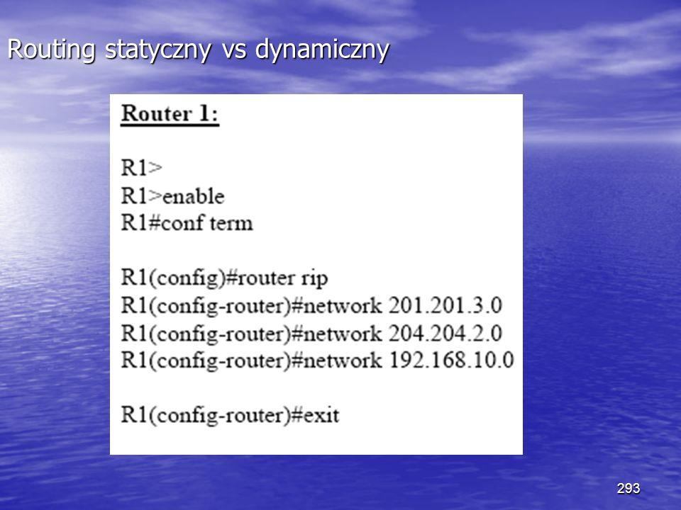 293 Routing statyczny vs dynamiczny